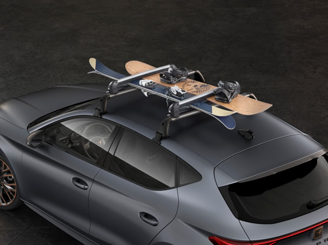 Ski rack for 4 pairs or 2 snowboards