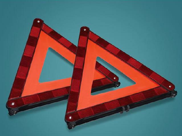 Warning triangle (2 units)