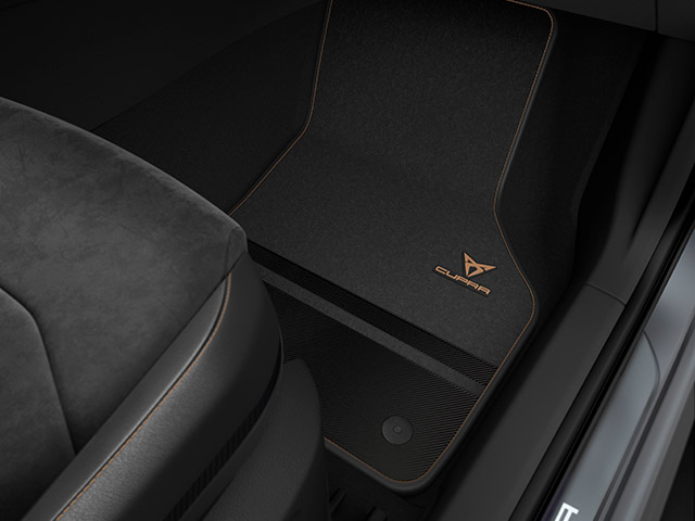CUPRA Carbon-Fußmatten für Linkslenker-Fahrzeuge